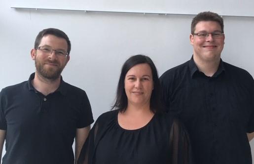 der neue Vorstand: Jens Hübner, Iris Pohl-Mattern und Markus Lange